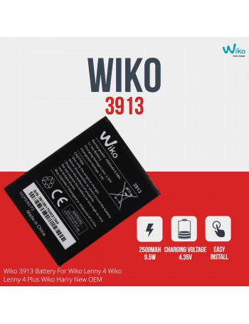 Wiko 3913 Battery For Wiko Lenny 4 Wiko Lenny 4 Plus Wiko Harry New OEM