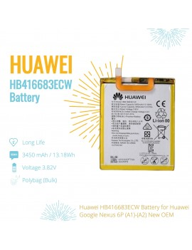 Huawei HB416683ECW Battery For Huawei Google Nexus 6P (A1)-(A2) New OEM
