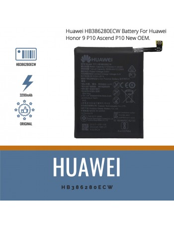 Huawei HB386280ECW Battery For Huawei Honor 9 P10 Ascend P10 New OEM