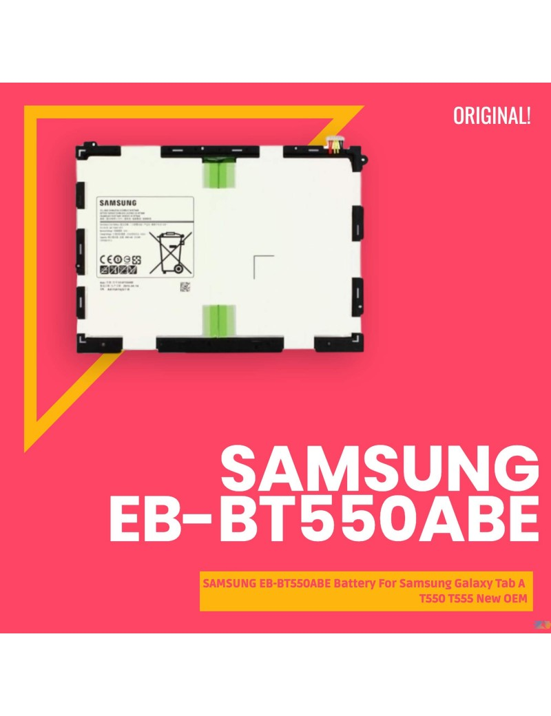 SAMSUNG EB-BT550ABE Battery For Samsung Galaxy Tab A T550 T555 New OEM