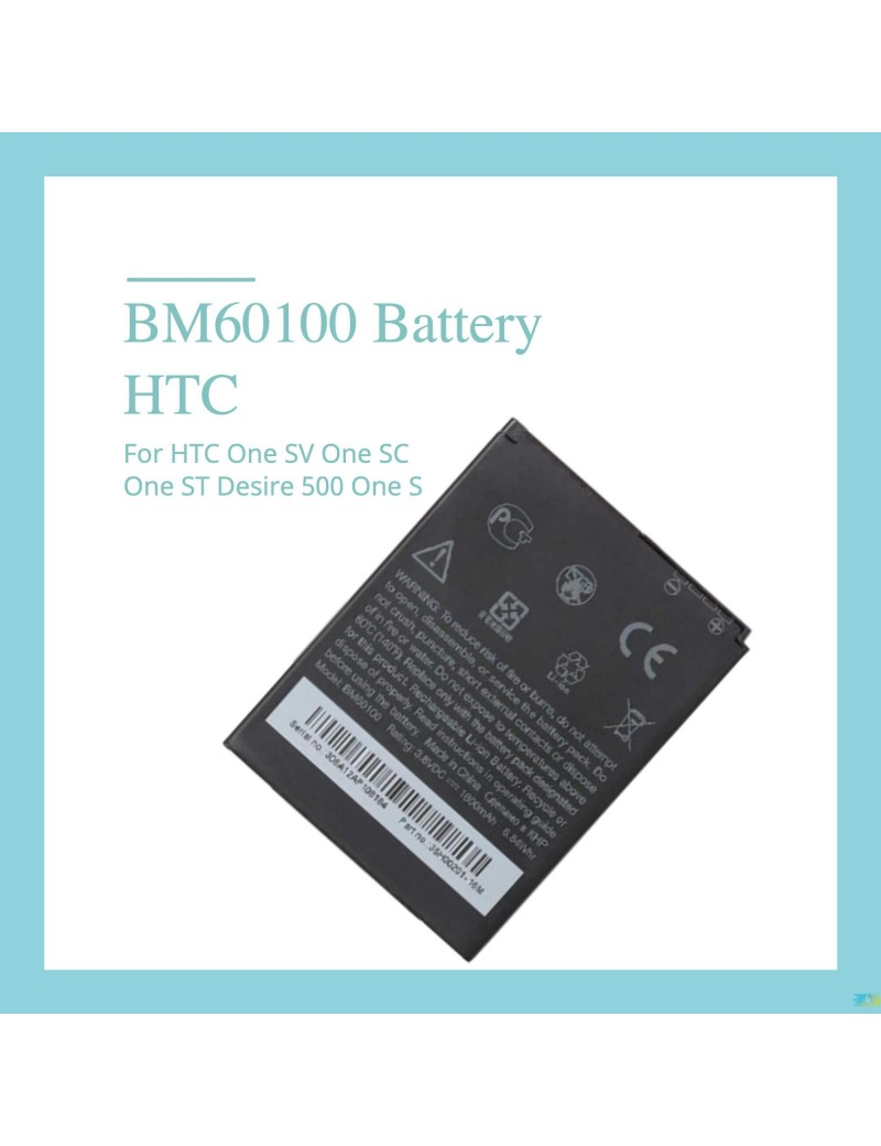 HTC BM60100 Battery For HTC One SV One SC One ST Desire 500 One S