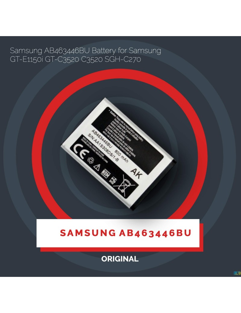 Samsung AB463446BU Battery For Samsung GT-E1150i GT-C3520 C3520 SGH-C270