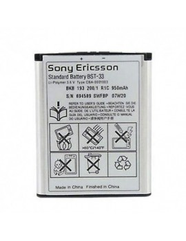 Sony Ericsson BST-33 Battery For Sony Ericsson Aino Satio Spiro C901 K800i K810i W880i W890i New OEM